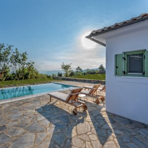 Villa Phoenix with Private Pool, stunning Seaview and beautiful spacious outdoors in Skopelos Island