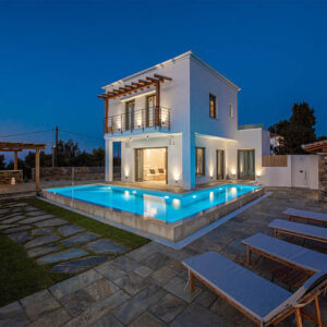 Villa Orion with Private Pool, stunning Seaview, Jacuzzi and beautiful spacious outdoors in Skopelos Island