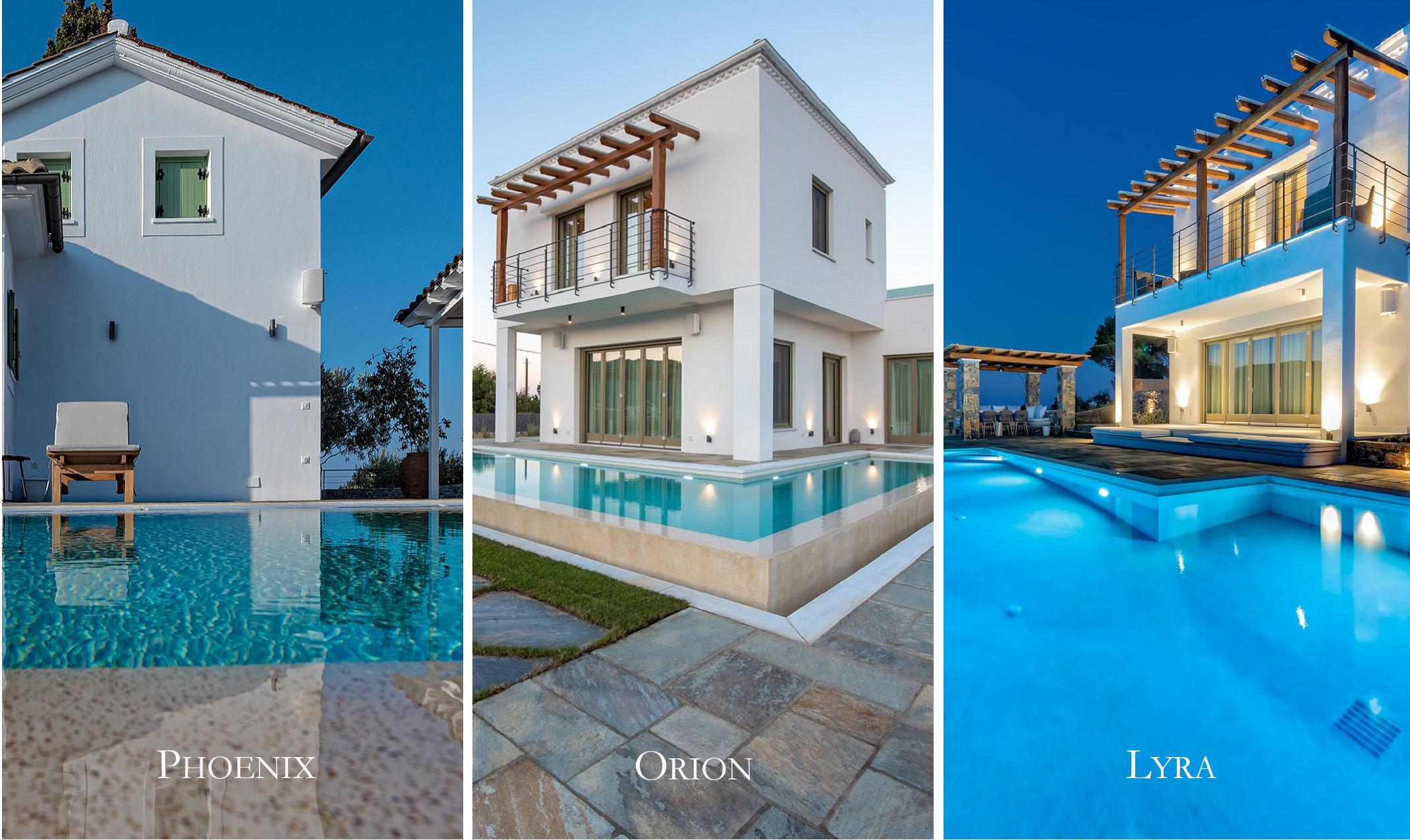Stargaze Villas Complex consists of 3 autonomous Villas with Private Pool